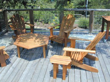 Picture Of Ipe Adirondack Chairs U0026 Other Ipe Outdoor Furniture Provided By  Plesum Custom Furniture