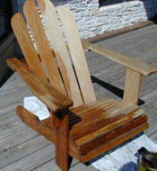 Beautiful Ipe Adirondack Chairs